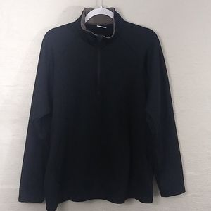 Columbia Black Polyester Pull Over Zip Up Shirt